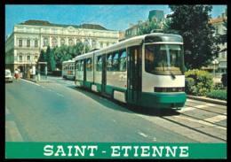 SAINT ETIENNE  Le Tramway Sur La Place De L'hotel De Ville édition De La Morlandière Année 1988 - Saint Etienne