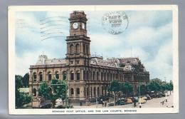 US.- BENDIGO POST OFFICE, AND THE LAW COURTS. VICTORIA, AUSTRALIË. 1956. - Bendigo