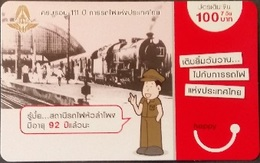 Mobilecard Thailand - Happy -  Eisenbahn , Railway (2) - Thailand