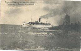 Stavoren, Stoomboot Veerdienst Enkhuizen - Stavoren, Vertrek Van De Bosman Uit Stavoren - Stavoren