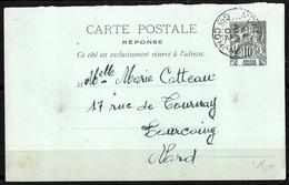 642 - FRANCE - GRANDE COMORE - 1902 - CARD TO FRANCE - Stamps