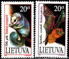 Lithuania 1994 Mammals Fauna 2 Stamps. MNH** - Lituania