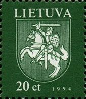 Lithuania 1994 Definitive Issue - State Arms. MNH** - Lituania