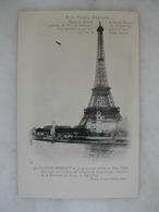 AVIATION - Prix Henry Deutsch - Dernière épreuve De Santos Dumont - Après Avoir Doublé La Tour Eiffel - 1901 - Dirigibili
