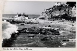 CHILE , T.P. NO CIRCULADA , VIÑA DEL MAR - PLAYA DE MIRAMAR - Chile