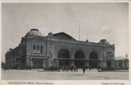 CHILE , T.P. NO CIRCULADA , SANTIAGO - ESTACIÓN MAPOCHO , FERROCARRIL , TRENES , RAILWAYS - Chile