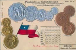 CHILE , T.P. NO CIRCULADA , MONEDA CHILENA , TROQUELADA , SERIE 1 , N. 18 - Chile