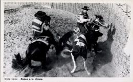 CHILE , T.P.  NO CIRCULADA , CHILE TÍPICO - RODEO A LA CHILENA , CABALLOS , HORSES - Chile