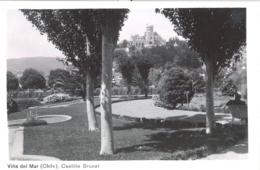 CHILE , T.P.  NO CIRCULADA , VIÑA DEL MAR - CASTILLO BRUNET - Chile