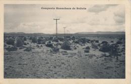 BOLIVIA , T.P.  NO CIRCULADA , COMPAÑIA HUANCHACA DE BOLIVIA , MINERIA , MINING - Bolivia