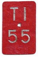 Velonummer Tessin Ticino TI 55 - Placas De Matriculación