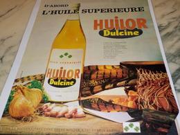 ANCIENNE   PUBLICITE HUILE SUPERIEURE  HUILOR DULCINE  1962 - Affiches