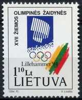 Lithuania 1994 Winter Olympic Games - Lillehammer, Norway. Mi 547. MNH** - Lituania