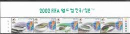 Korea  2000   Sc#2039   Soccer Stadiums Header & Strip Of 5   MNH   2016 Scott Value $7.50 - Korea, South