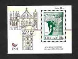 Lithuania 1994 The 100th Postage Stamp Souvenir Sheet.Bl 4 MNH** - Lituania