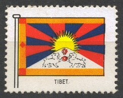 CHINA TIBET - FLAG FLAGS / Cinderella Label Vignette - MNH - China
