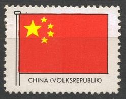 CHINA - FLAG FLAGS / Cinderella Label Vignette - MNH - China