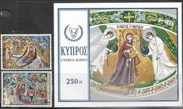 Cyprus   1969   Sc#335-7   Christmas Set MNH   2016 Scott Value $5.50 - Cyprus (Republic)