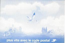"""Carte De Changement D'adresse Cigogne """"plus Vite Avec Le Code Postal"""" Carte En Franchise Neuve - Autres"""