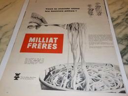 ANCIENNE  PUBLICITE LES BONNE PATE MILLIAT FRERES 1960 - Affiches