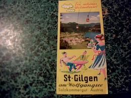 Autriche Vieux Papier Dépliant Touristique St.Glilden Am Wolfgangsee Année 50? - Tourism Brochures