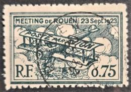 FRANCE 1923 - Canceled - Precurseur Poste Aérienne - ROUEN 23 Sept. 1923 - 75c - Aéreo