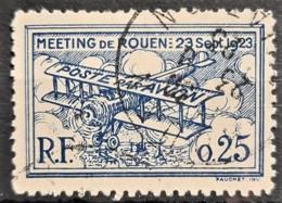 FRANCE 1923 - Canceled - Precurseur Poste Aérienne - ROUEN 23 Sept. 1923 - 25c - Aéreo
