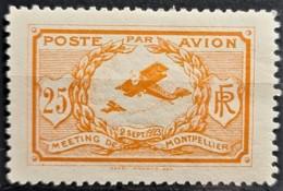 FRANCE 1923 - MLH - Precurseur Poste Aérienne - MONTPELLIER 2. Sept. 1923 - 25c - Aéreo