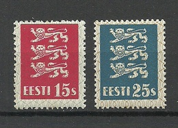 ESTLAND ESTONIA 1935 Michel 106 - 107 MNH - Estland