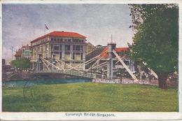 Cavanagh Bridge Singapore Oblitération 24 Mai 1922 Pour Dakar Sénégal - Singapore