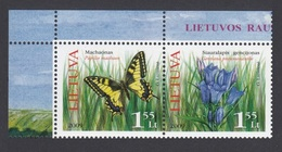 2009Lithuania1021-1022PaarButterflies - Papillons