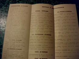 Vieux Papier Dépliant Touristique Allos Haute Vallée Du Verdon Année 1974 - Tourism Brochures