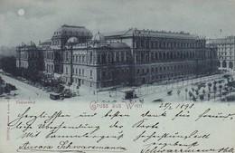 AK Gruss Aus Wien - Universität - Mondscheinkarte - 1898  (50476) - Ringstrasse