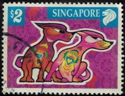 Singapour 2006 Oblitéré Used Nouvel An Chinois Année Du Chien SU - Singapore (1959-...)