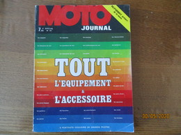 MOTO JOURNAL SPECIAL N°111 TOUT L'EQUIPEMENT & L'ACCESSOIRE 8 PORTRAITS COULEUR DE GRANS PILOTES - Moto