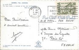 Carte De Quebec 1967 Flamme VOTRE SANG SAUVE DES VIES YOUR BLOOD SAVES LIVES Pour Paris - Lettres & Documents