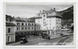 (RECTO / VERSO) BRIANCON - N° 8333.1 - LA GARE ET L' HOTEL TERMINUS AVEC VIEILLES VOITURES - CARTE PHOTO GEP NON VOYAGEE - Briancon