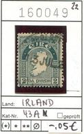 Irland - Eire - Michel 43 A - Oo Oblit. Used Gebruikt - - 1922-37 État Libre D'Irlande