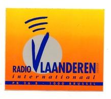 Autocollant Radio Vlaanderen Internationaal PB 26 B 1000 Brussel- Format: 7.5x9 Cm - Stickers