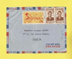 Asie Lettre  Par Avion Du Vietnam De Saïgon Le 06 06 1952  Pour Paris Avec Timbre  Baô Dai Et Poste Aérienne Voir Scan - Viêt-Nam