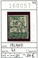 Irland - Eire - Michel 61 - Oo Oblit. Used Gebruikt - 1922-37 État Libre D'Irlande