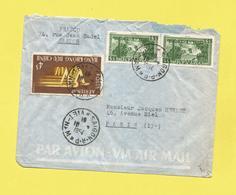 Asie Lettre  Par Avion Du Vietnam De Saïgon Le 10 02 1954  Pour Paris Avec Timbre Paysage  Et Poste Aérienne Voir Scan - Viêt-Nam