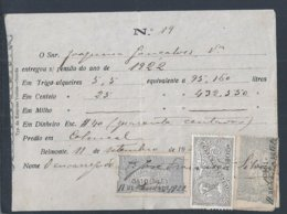Recibo De Renda Selado De Propriedade Em Belmonte 1922. Sealed Income Receipt Of Property In Belmonte 1922. - Portugal