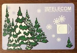 RÉPUBLIQUE TCHÉQUE SPT TELECOM HIVERT SAPINS CARTE CARD SANS PUCE PHONECARD PAS TELECARTE CESKA REPUBLIKA - Tsjechië