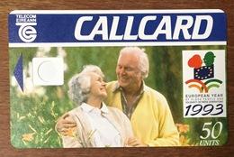 IRLANDE EIREANN TELECOM COUPLE AU RECTO VERSO BLANC SANS PUCE PHONECARD PAS TELECARTE CARD - Ierland
