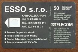 RÉPUBLIQUE TCHÉQUE SPT TELECOM ESSO TIGRE CARTE CARD SANS PUCE PHONECARD PAS TELECARTE CESKA REPUBLIKA - Tsjechië