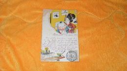 CARTE POSTALE ANCIENNE DE 1903 DU JAPON.../ ILLUSTRATEUR ?..FEMME ENFANT..CACHET HAKODATE + TIMBRE.. - Giappone