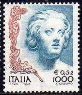 ITALIA REPUBBLICA ITALY REPUBLIC 1998 LA DONNA NELL'ARTE WOMAN IN ART COSTANZA BUONARELLI G. L.  BERNINI LIRE 1000 MNH - 1991-00:  Nuovi