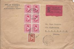 Alexandrie Devant De Lettre Recommandée Pour Bordeaux (Felix Cohen Alexandrie) - Égypte