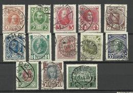 RUSSLAND RUSSIA 1913 = 13 Values From Set Michel 82 - 98 O Romanov Dynastia - 1857-1916 Imperio